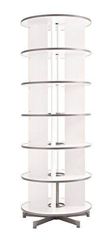 (Moll One Turn Binder & File Carousel Shelving with Six Tier, White (TURN6))