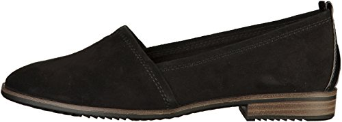 Tamaris 24205 9 Leather Loafers 1 Womens UK 20 Black rrwx57OgqR