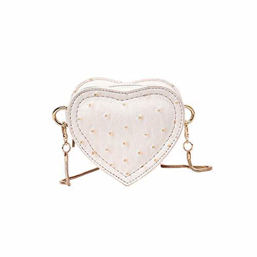Crossbody Bags for Women Small,SIN+MON Lady Fashion Shoulder Bag Heart-shaped Polka Dot Print Cell Phone Bag Chain Purse