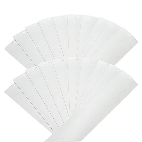 DALIX PVC Veritcal Blind Replacement Slats Curved Smooth White 94.5 x 3.5 (20-Pack) ()