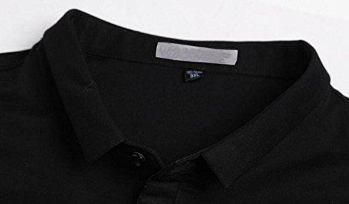 Manga Corta Negro Verano Para Hombre Algodón Casual De Camiseta Suelta Transpirable vEZ5wqv