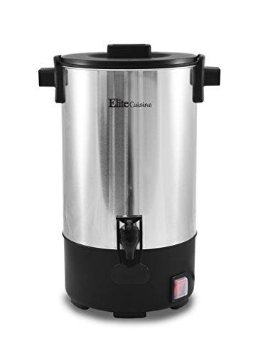 - Elite Cuisine CCM-035 30-Cup Stainless Steel Coffee Urn Coffee Maker Water Boiler