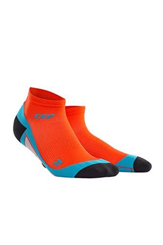CEP Men's Ankle Compression Running Socks Low Cut Socks (Sunset/Hawaii Blue) III