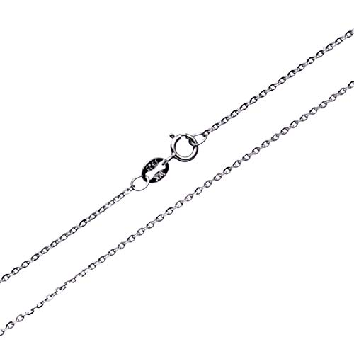 Wellme Sterling Silver Gliding Rolo Cable Chain Necklace 16''-24'' (1.5mm Width 50cm (20 inches))