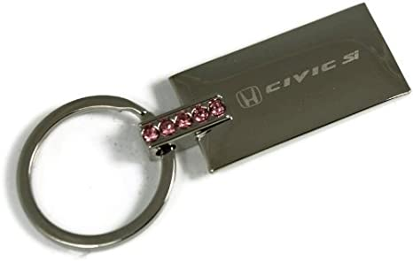 dantegts Honda Civic Si rosa brillantes Llavero Authentic ...