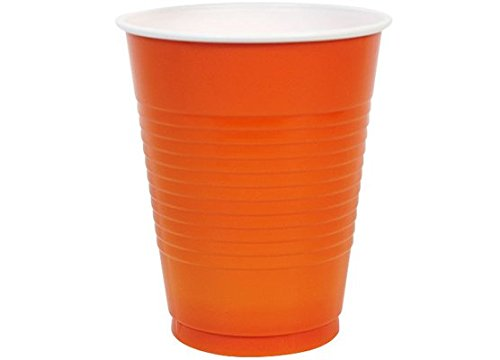 Eros Hosiery Company KIN89862 Orange 18oz Plastic Cups by Party Dimensions - Case of 24 by Eros Hosiery