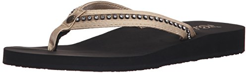 Cobian Women's Cartier Skinny Bounce Flip Flop, Rose Gold, 6 M US