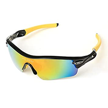 DKMMDWSSD Gafas de Bicicleta polarizadas, Gafas de Sol de ...
