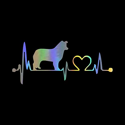 Cute Dog Heartbeat 3D Car Bumper Stickers and Decals Car Styling Decoration Door Body Window Vinyl Stickers Dazzle Color