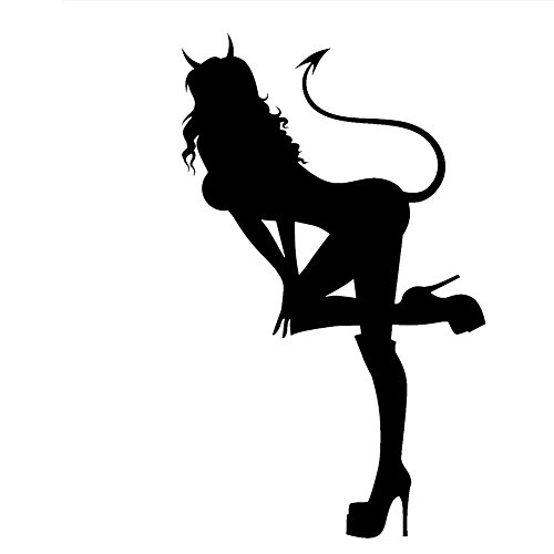 - LCK Unique Design Sexy Hot Women Girl Adult Pinup Devil v2, Red, 8 Inch, Die Cut Vinyl Decal, for Windows, Cars, Trucks, Toolbox, Laptops, MacBook-virtually Any Hard Smooth Surface