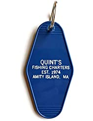 """Jaws Quint's Fishing Charters - Amity Island""""Shark Hunting Experts"""" Inspired Key Tag"""