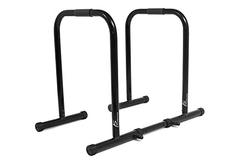ProSource Dip Stand Station, Heavy Duty Ultimate Body Press Bar for Tricep Dips, Pull-Ups, Push-Ups, L-Sits-Black