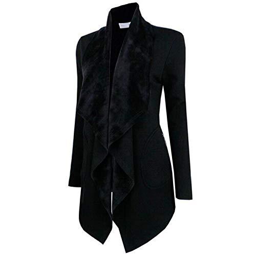 Womens Gothic Steampunk Costume Medieval Lapel Coat Victorian Coat Wedding Uniform Black ()