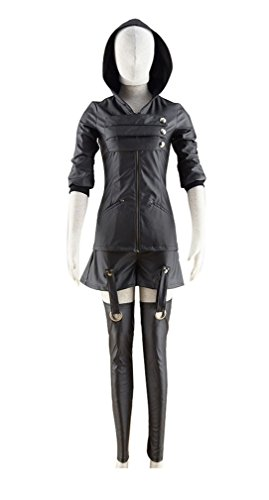Touka Cosplay Costume (Dazcos Tokyo Ghoul Touka Kirishima Leather Clothing Cosplay Costume (Women L))