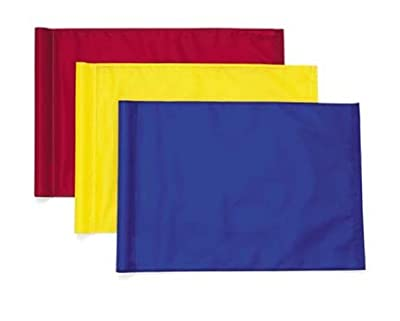 Solid Color Golf Flags-tube Style-red-set of 9