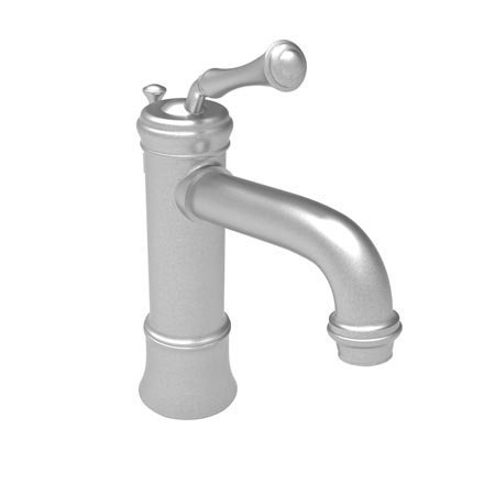 Newport Brass 9203 Single Handle Single Hole Bathroom Faucet with Metal Lever Ha, Stainless Steel (Pvd Single Lever)