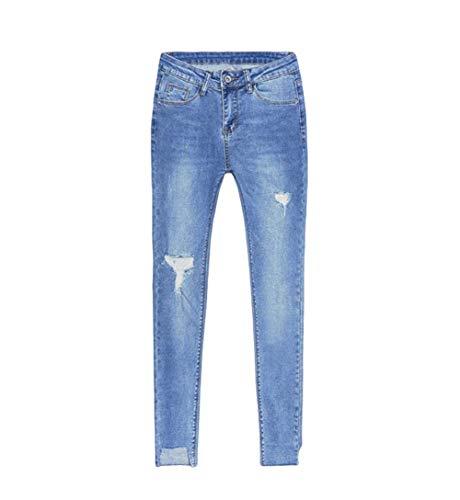 Eleganti Ragazza Esterno Blau3 Estivi Da Pantaloni Elasticizzati lannister Strappati Qk Donna fqaw7SSx
