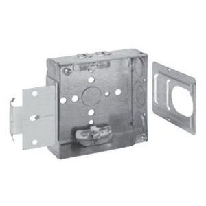 Crouse-Hinds TP444MSB Steel Outlet Box 4 Inch x 4 Inch x 1-1/2 Inch 22 Cubic-Inch