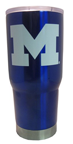 NCAA Michigan Wolverines 22 oz Vacuum Insulated Stainless Steel Travel -