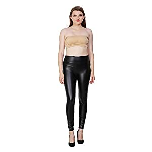 Aiyra Faux Leather Legging for Women's Black Free Size