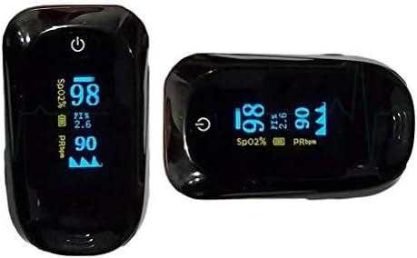 Oxímetro de Pulso LUBL Monitor de Saturación de Oxígeno SpO2 y Pulso Cardíaco con Pantalla OLED 4