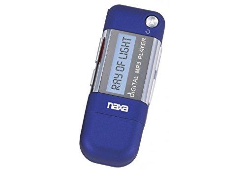 NAXA Electronics NM-145SBL MP3 Player with 4GB Built-in Flash Memory, LCD Display & USB Plug Adaptor