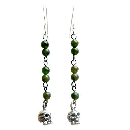 Satin Crystals Jade Green Earrings 2.4