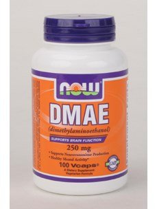 NOW Dmae 250mg, 100 Capsules(Pack of 2)
