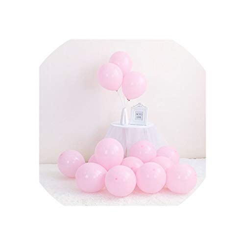 Macaron Latex Balloons Wedding Birthday Decoration,100Pcs Pink,100Pcs -