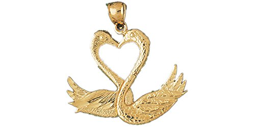 14k Yellow Gold Swan Pendant 14k Yellow Gold Swan Pendant