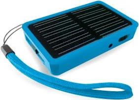 ソーラーマルチチャージャー+マイクロSDカードリーダー ブルー