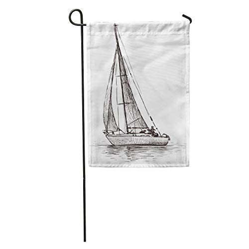 """Semtomn Seasonal Garden Flags 28"""" x 40"""" Boat Sailing for sale  Delivered anywhere in Canada"""