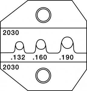 paladin tools 2030 crimpall 1300 8000 series die for srf and smf connectors crimpers. Black Bedroom Furniture Sets. Home Design Ideas