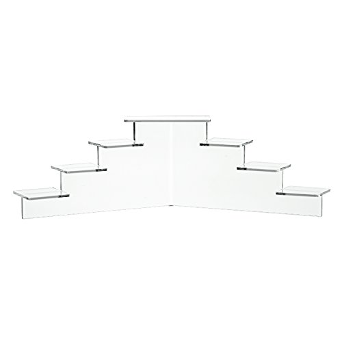 Source One Deluxe Acrylic 7 Tier Display Stand  Available In 3 Sizes Clear   Black  Small  Clear