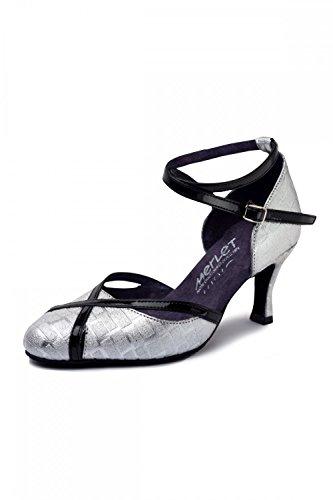 Chaussures Merlet danse femme Noir Argenté de Nikole 55pwrq1