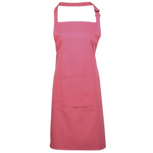 Premier Workwear Colours Bib Apron with Pocket, Top para Mujer Fucsia