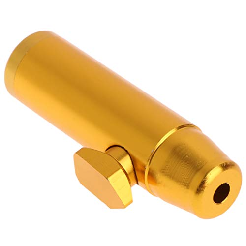 zobeen Portable Metal Aluminum Snuff Dispenser Snorter Powder Bullet Boxes (Gold)