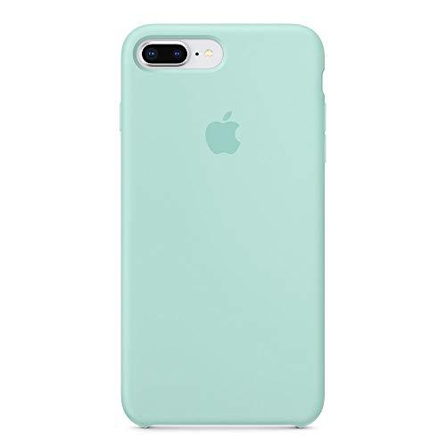 Anti-Drop iPhone 8 Plus / 7 Plus (5.5Inch) Liquid Silicone Gel Case, TOSHIELD Soft Microfiber Cloth Lining Cushion for iPhone 8 Plus and 7Plus (Green Marine)