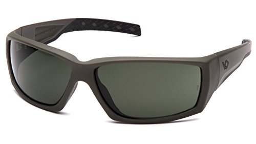 Venture Gear Overwatch Shooting Safety Sunglasses, Black, Forest Gray Anti-Fog Lens (Best Military Tactical Sunglasses)