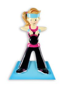 Grantwood Technology Personalized Christmas Ornaments Sports- Workout Female/Personalized by Santa/Fitness Ornament/Fitness Christmas Ornaments]()