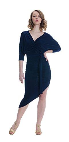 Miari Latin Lily Kimono Ballroom Dance Dress (X-Small, Na...