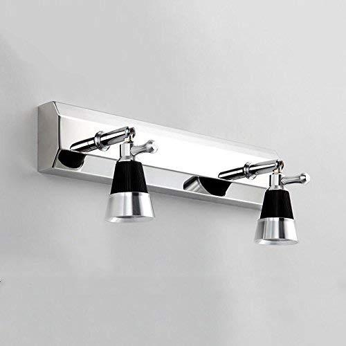 Weiß Light-2-30cm WENYAO Spiegelfrontleuchte (Lampe kann 360 ° -Rotation Sein) LED Doppelkopf-   Dreikopf-Spiegelscheinwerfer Modern minimalistische Edelstahl-Badezimmerleuchte Spiegelschrankleuchte Wandleuchte