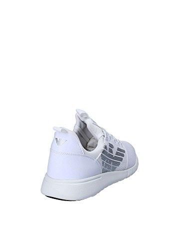 Ea 7 Eenvoudige Racer Mannen Tennisschoen Wit Wit