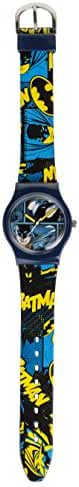 Dc Comics Batman Boy's Quartz Analogue Display Watch With Blue Dial And