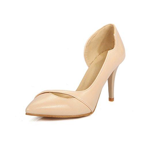 Chéri Temps Femmes Bout Pointu Talons Pompes Chaussures Abricot