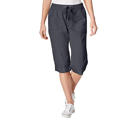 Calvin Klein Performance Womens Convertible Cargo Capri Pants Gray M (Convertible Cargo Pants Women)