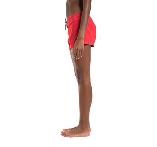 Birdwell Women's Stretch Board Shorts - Regular Rise (Red, 2) by Birdwell Beach Britches (Image #7)