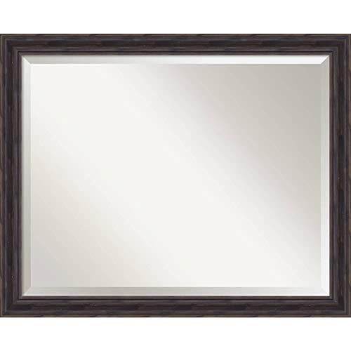 Bathroom Mirror Large Narrow Rustic Pine 31 X 25-inch - Brown 25.38 -