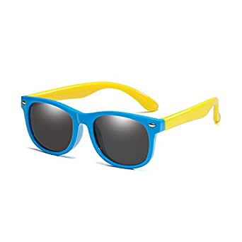 Gafas de sol Retro Polarizadas Clásicas para Bebés, Niños pequeños, Niños y Niñas de LongKeeper