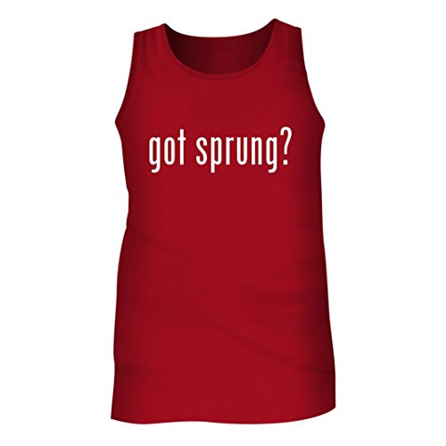 Tracy Gifts Got sprung? - Men's Adult Tank Top, Red, Large (Sprung Floor)
